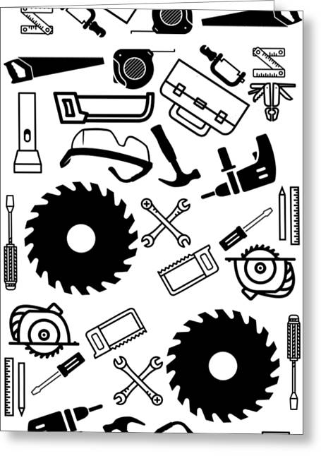 Tool Belt 1 Phone Case Greeting Card by Edward Fielding