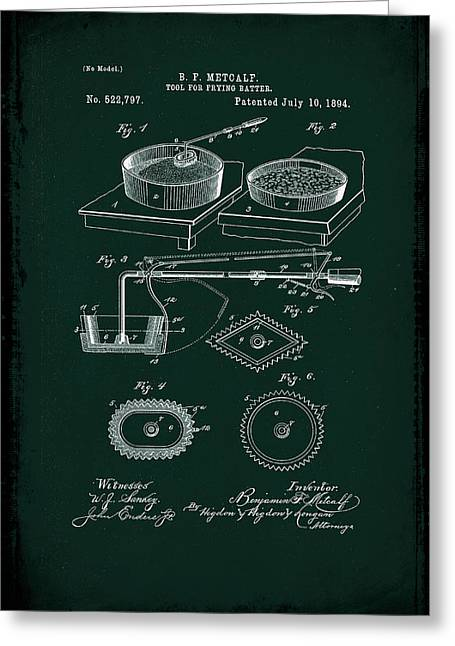 Tool For Frying Batter Patent Drawing 1d Greeting Card