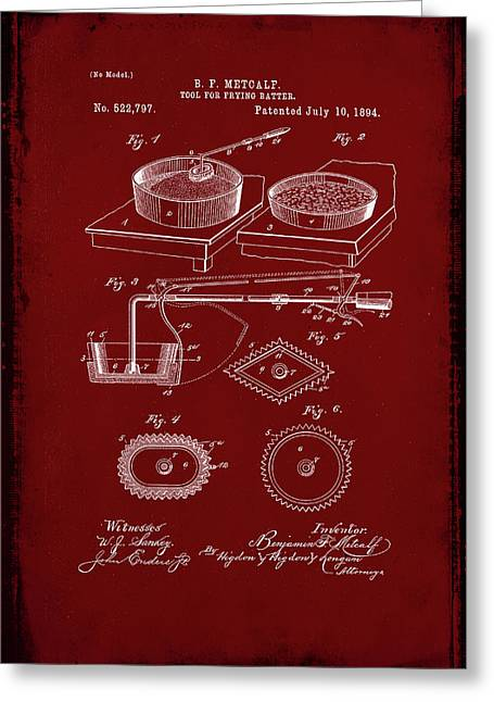 Tool For Frying Batter Patent Drawing  Greeting Card