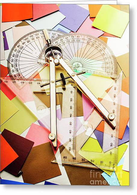 Tools Of Architectural Design Greeting Card