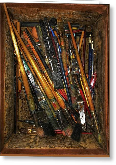 Greeting Card featuring the photograph Tools Of The Painter by Jame Hayes