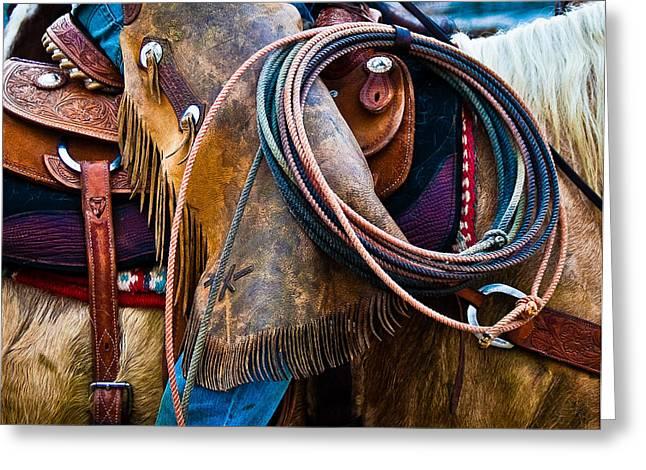 Tools Of The Trade - Cowboy Saddle Closeup - Casper Wyoming Greeting Card