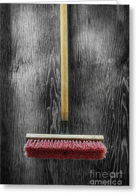 Greeting Card featuring the photograph Tools On Wood 14 On Bw by YoPedro
