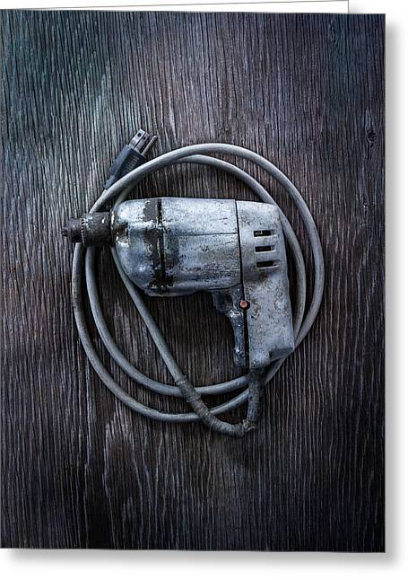 Tools On Wood 30 Greeting Card by YoPedro