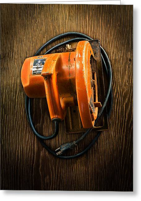 Tools On Wood 31 Greeting Card by YoPedro