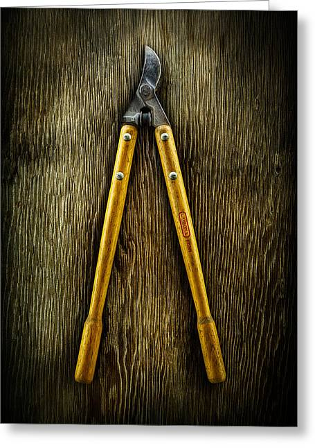 Tools On Wood 34 Greeting Card by YoPedro