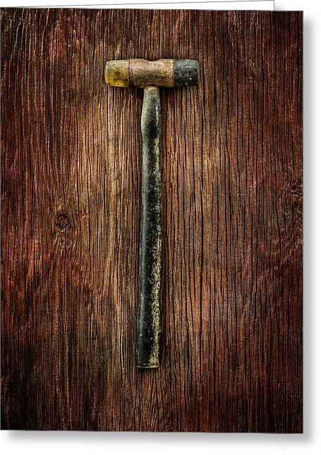Tools On Wood 35 Greeting Card by YoPedro
