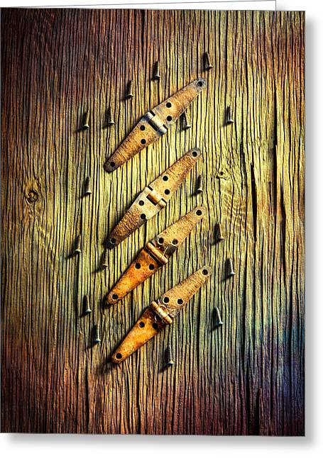 Tools On Wood 46 Greeting Card by YoPedro