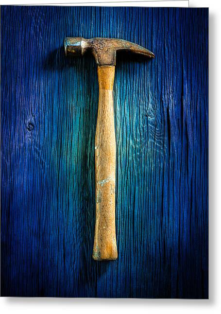 Tools On Wood 49 Greeting Card by YoPedro