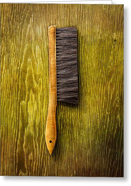 Tools On Wood 52 Greeting Card by YoPedro