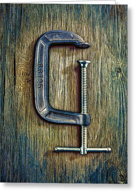 Tools On Wood 68 Greeting Card by YoPedro