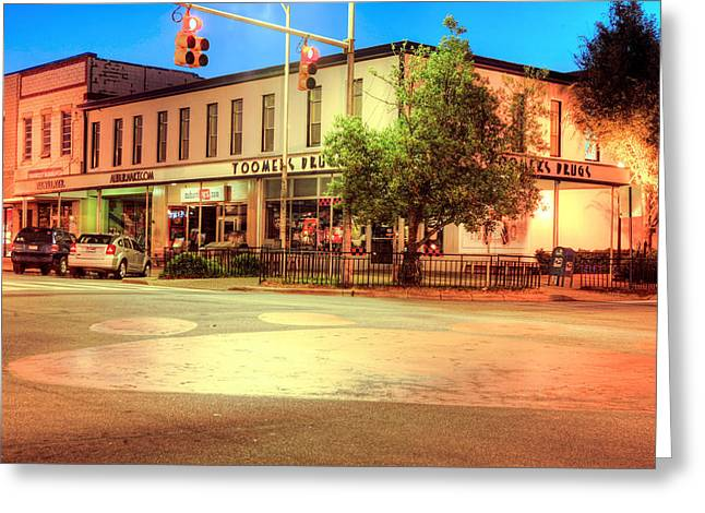 Toomers Corner Greeting Card by JC Findley