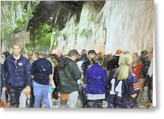 Toomer's Corner The Spot To Be Greeting Card by JC Findley