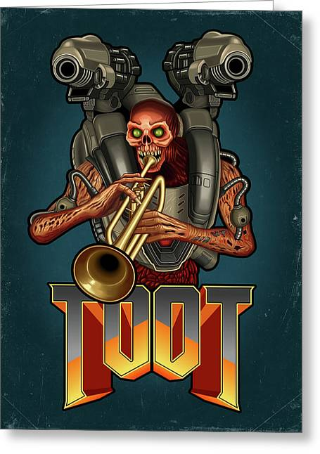 Toot Greeting Card by Remus Brailoiu