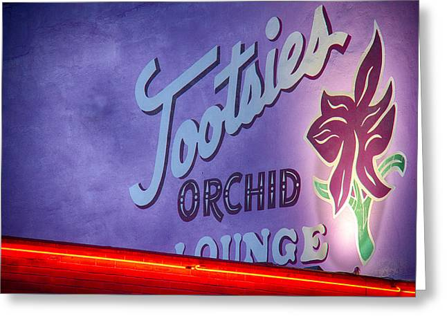Tootsies Of Nashville Greeting Card by Mike Burgquist