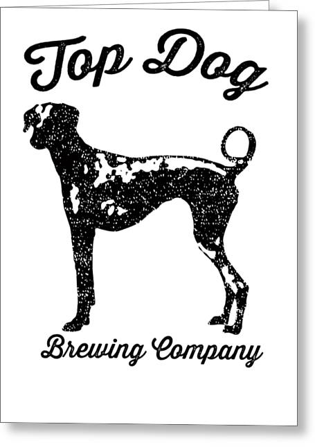 Top Dog Brewing Company Tee Greeting Card