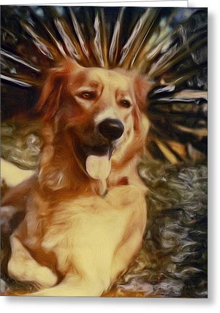 Greeting Card featuring the photograph Top Dog by Lou  Novick