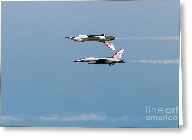 Top Gun Thunderbirds Greeting Card by Terri Morris