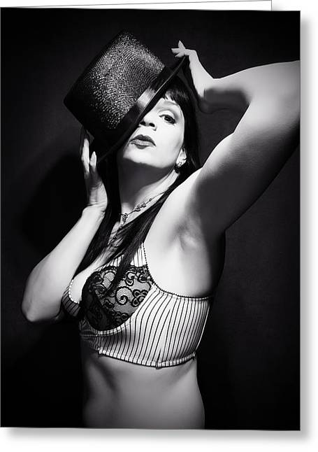 Top Hat And Lingerie 4 Greeting Card by Dorothy Lee