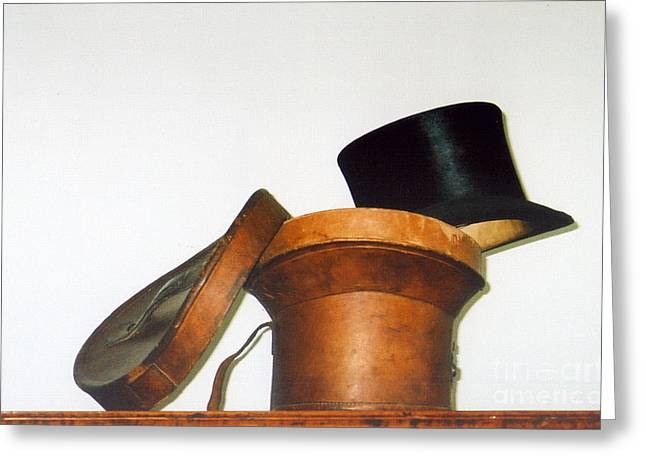 Top Hat Greeting Card by Andrea Simon