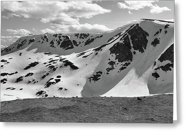 Top Of Beartooth Highway Black And White Greeting Card by Dan Sproul