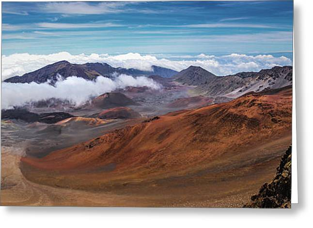 Top Of Haleakala Crater Greeting Card