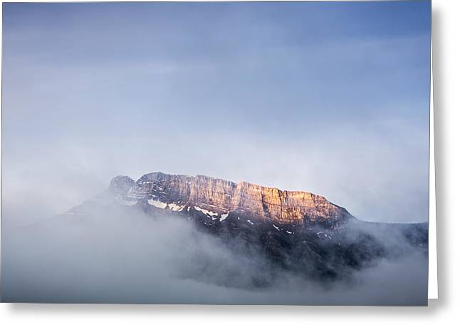 Top Of Mount Rundle Greeting Card
