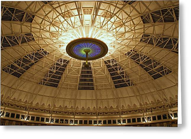 French Lick Indiana Greeting Cards - Top of the Dome Greeting Card by Sandy Keeton
