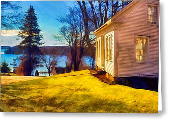 Top Of The Hill, Friendship, Maine Greeting Card by Dave Higgins