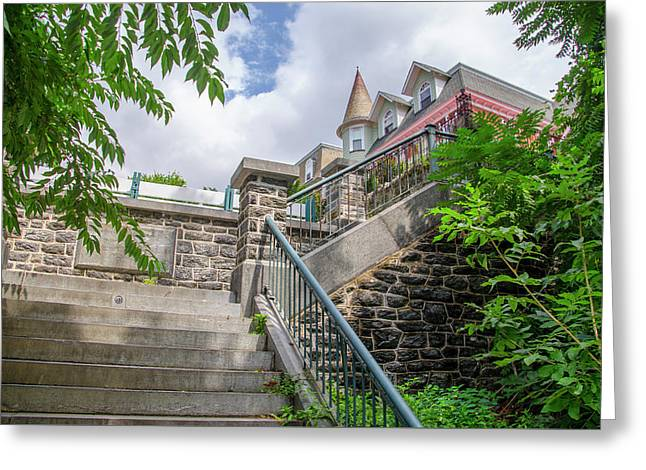 Top Of The Hundred Steps - Wissahickon Greeting Card