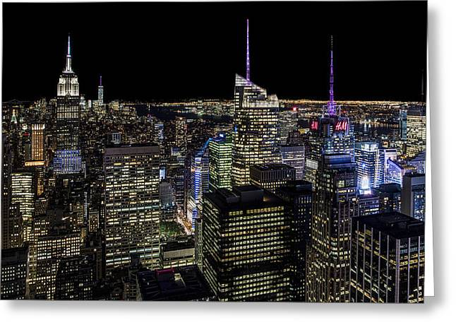 Top Of The Rock Greeting Card by Chris Austin