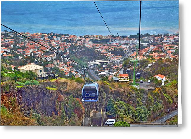 Top View.  Madeira. Greeting Card by Andy Za