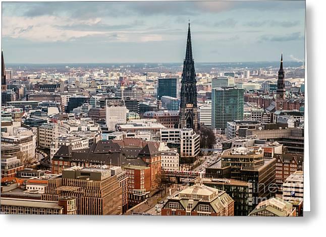 Top View Of Hamburg Greeting Card