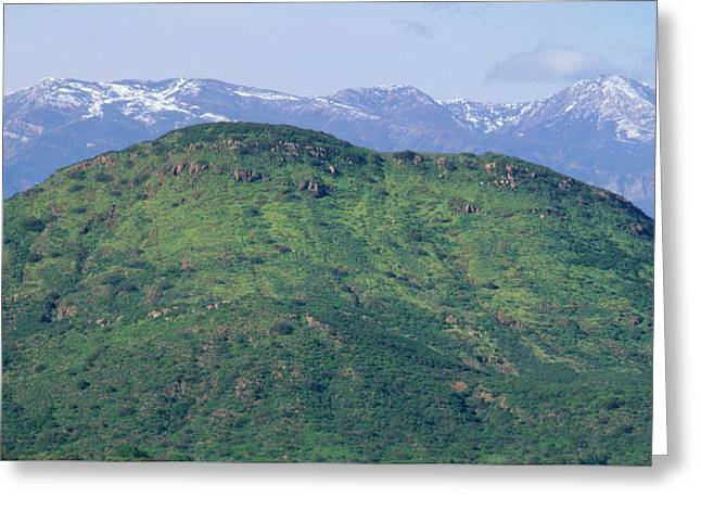 Topa Topa Mountains Greeting Card by Soli Deo Gloria Wilderness And Wildlife Photography