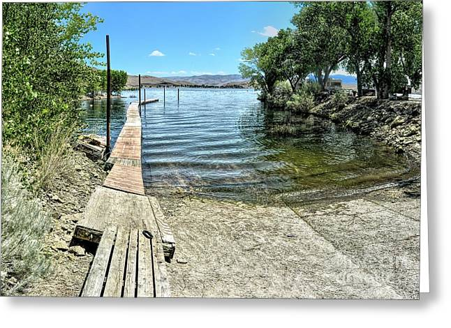 Topaz Landing Boat Launch Greeting Card