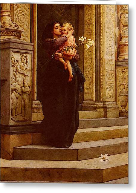 Topham Frank William Warwick The Lily Greeting Card by Frank William Warwick Topham