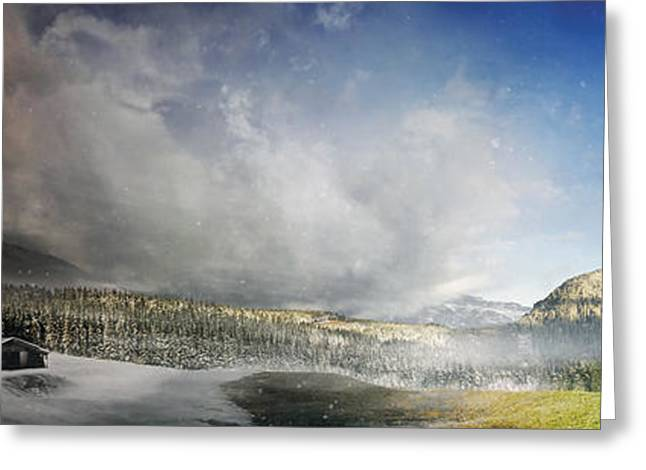 Topic Of Duality Winter-summer Greeting Card by Tobias Roetsch