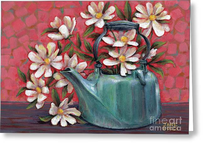 Greeting Card featuring the painting Topless With Daisies by Jane Bucci