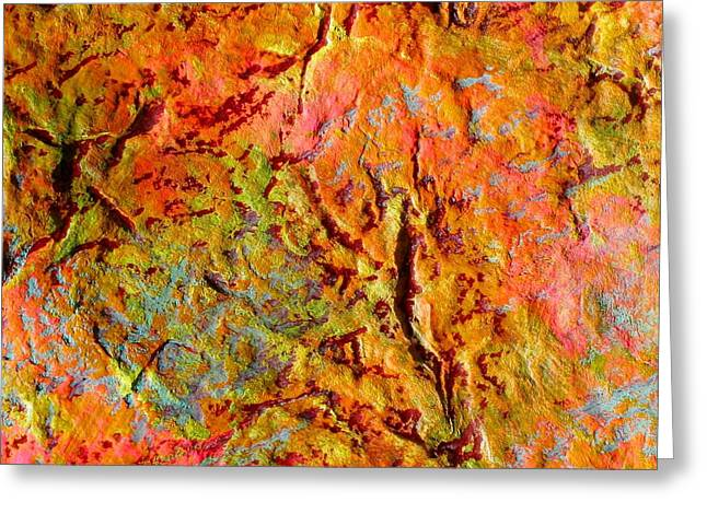 Topographical Map Color Poem Greeting Card