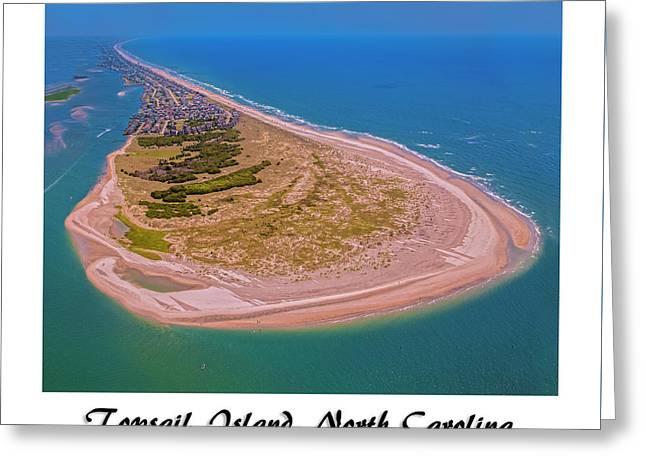 Topsail Aerial Custom Greeting Card by Betsy Knapp