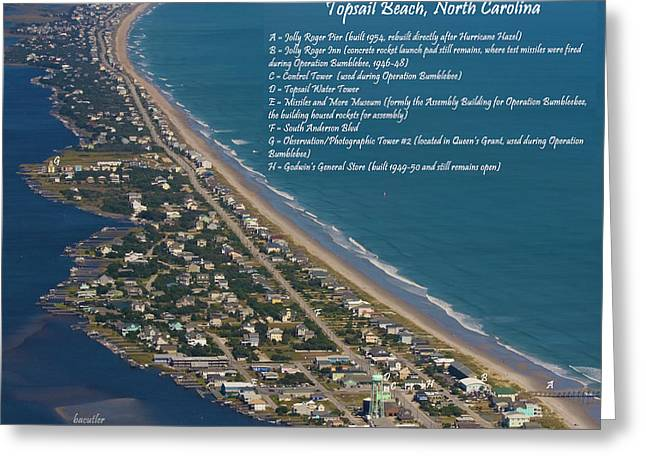 Topsail Beach Greeting Card by Betsy Knapp
