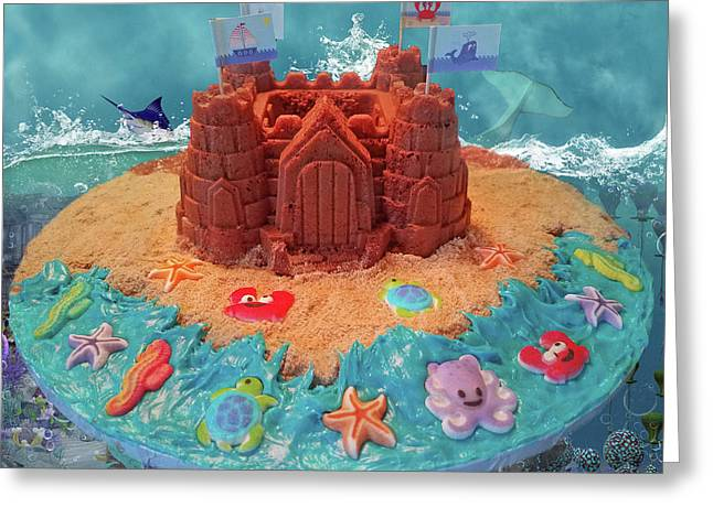 Topsail Island Castle Cake Greeting Card