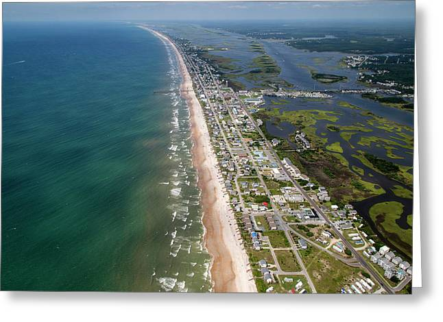 Topsail Island Middle Heart Greeting Card