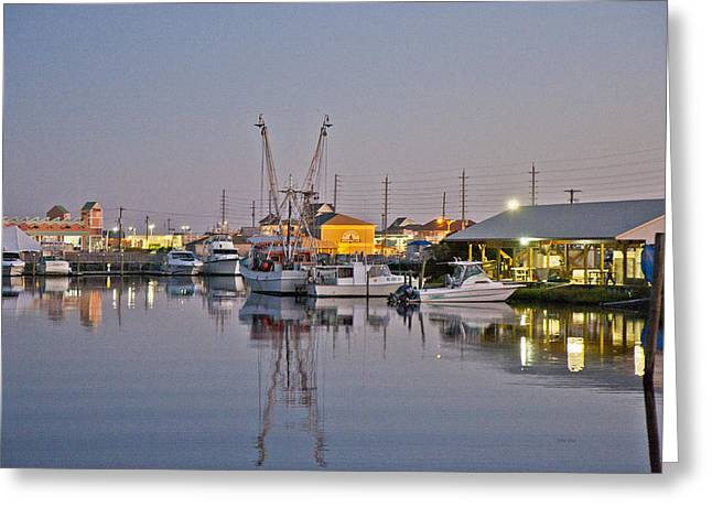 Topsail Island Nc Sound Greeting Card by Betsy C Knapp