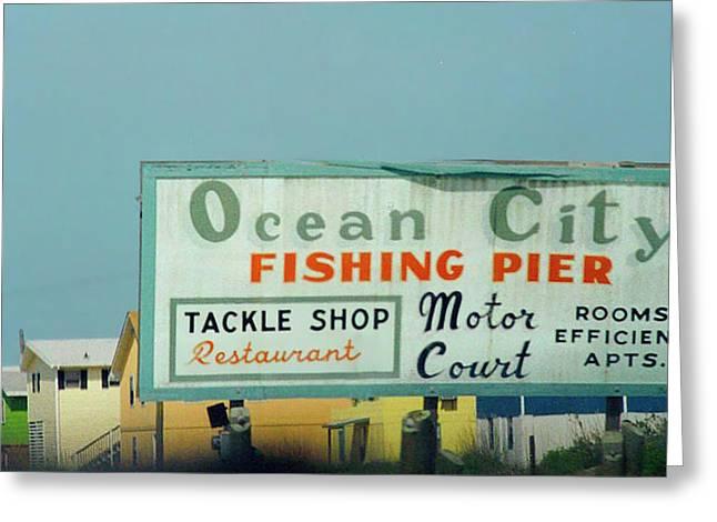 Topsail Island Ocean City 1996 Greeting Card by Betsy Knapp