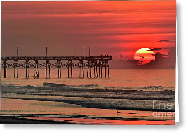 Greeting Card featuring the photograph Topsail Moment by DJA Images