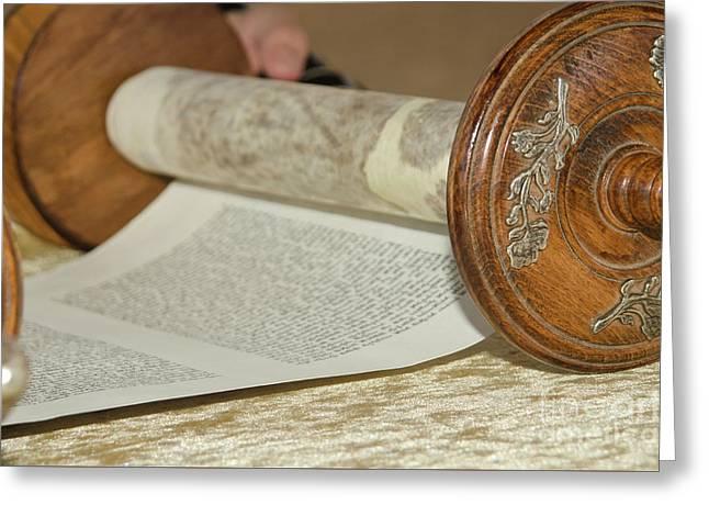 Torah Scrolls Greeting Card