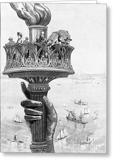 Torch Of Statue Of Liberty, 1885 Greeting Card