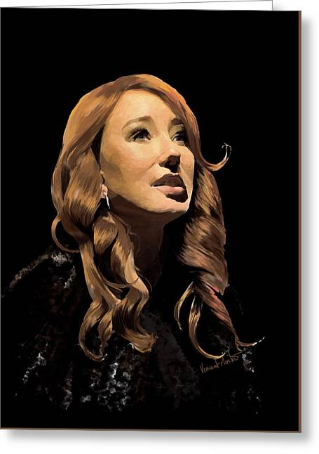 Tori Amos Greeting Card by Vincent Martin