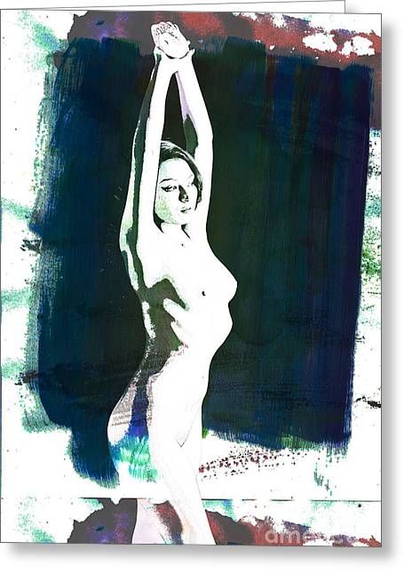 Toriwaits Nude Fine Art Print Of Sensual Painting 5130.03 Greeting Card by Kendree Miller
